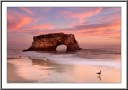 Santa Cruz Natural Bridge Sunset