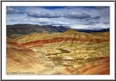 Painted Hills on a cloudy day